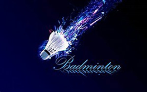 Fliegender Badminton Ball