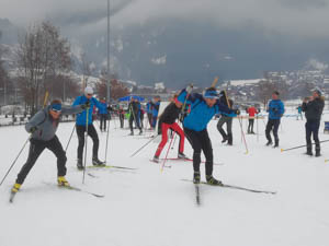 Start zum 6. Burgberger Gaudibiathlon